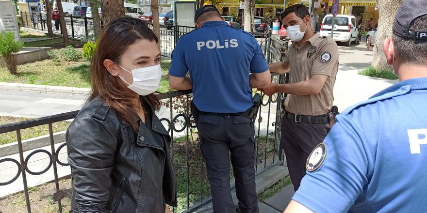 Maskesiz gezen 121 kişiye 108 bin 900 TL ceza