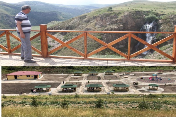 Kars-Susuz şelalesi vatandaşların ilgi odağı