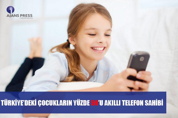 TÜRKİYE'DEKİ ÇOCUKLARIN YÜZDE 59'U AKILLI TELEFON SAHİBİ