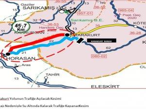 Karakurt – Horasan yolu açıldı