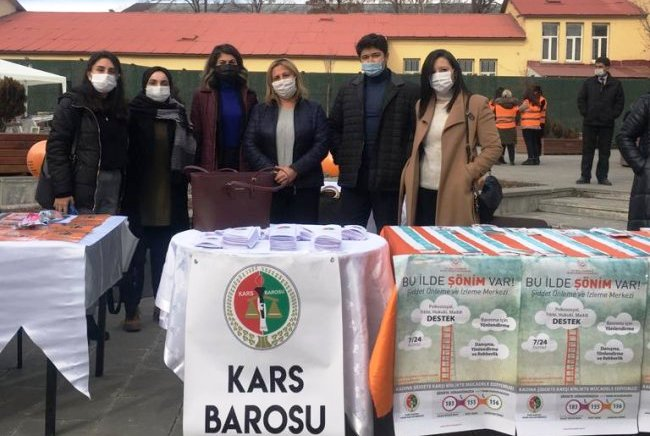 """Kars Barosu: """"Kadına yönelik şiddet bir insan hakkı ihlalidir"""""""