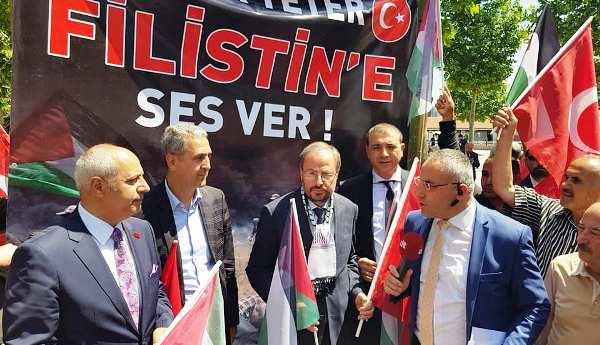 KAI Filistin'e destek eyleminde