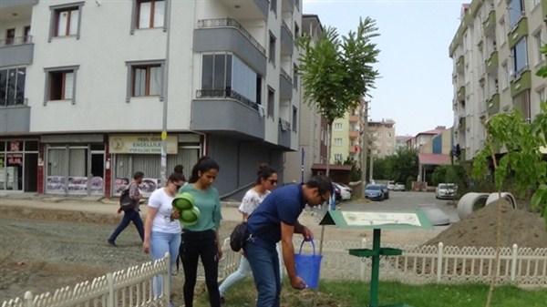 Sokak hayvanları için su kapları bırakılmaya devam ediliyor