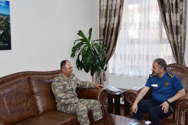 Tuğgeneral Nuhut, İl Emniyet Müdürü Bitirik'i ziyaret etti