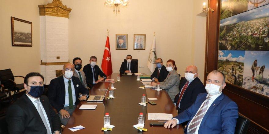 Vali Türker Öksüz, BM Gıda ve Tarım Örgütü (FAO) yetkililerini ağırladı