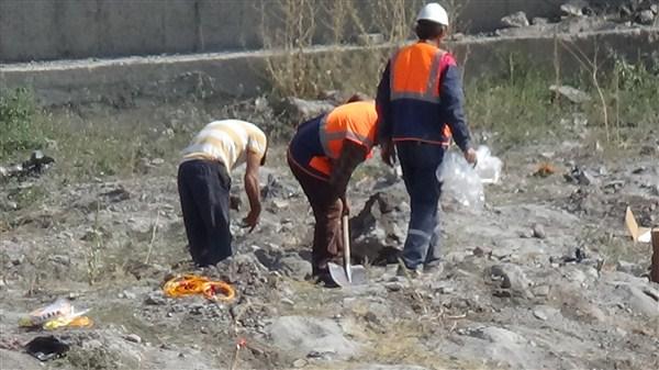 Külliye inşaatta dinamitle patlatma yapıldı