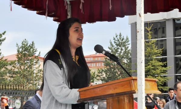 """İpeknur Erdoğdu: """"Atatürk'ün 19 Mayıs'ı armağan ettiği gençlere büyük görevler düşmektedir"""""""