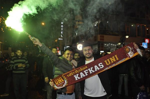 Serhat Şehri Kars'ta, Galatasaray'ın şampiyonluk coşkusu