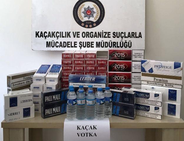 Kaçak içki ve sigara bulunduran işyerlerine işlem yapıldı