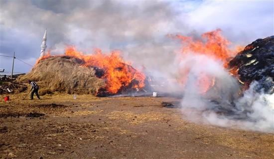 Yaylacık'ta dün başlayan ot yangını söndürülemiyor