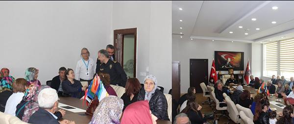 Çanakkale Şehit ve Gazi Aileleri Derneğinden Emniyet Müdürü Bitirk'e ziyaret