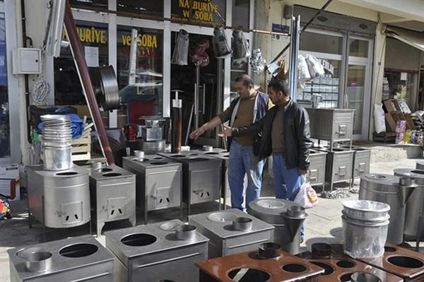 Kars'ta soba satışları arttı