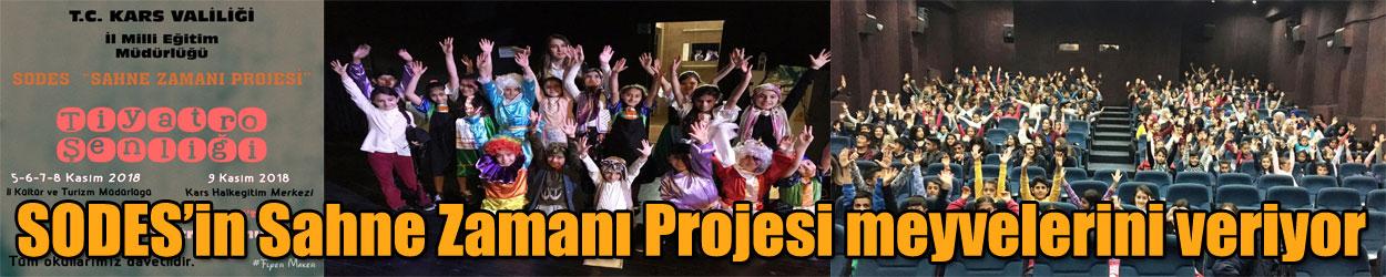 SODES'in Sahne Zamanı Projesi meyvelerini veriyo