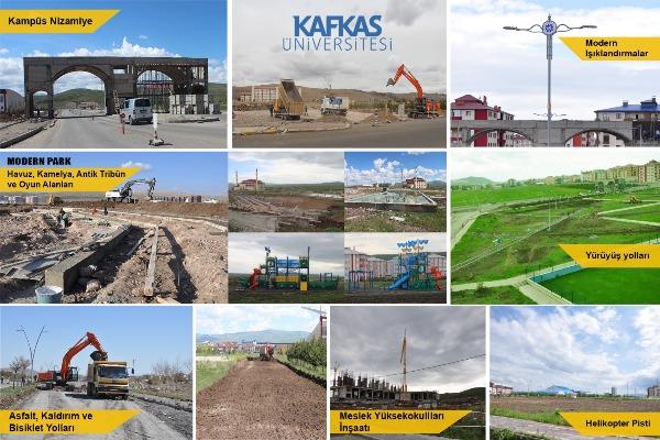 KAÜ'de alt yapı çalışmaları aralıksız devam ediyor