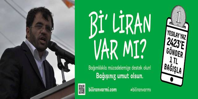 """Özabay, """"Bi' liran var mı?"""" kampanyasına destek istedi"""