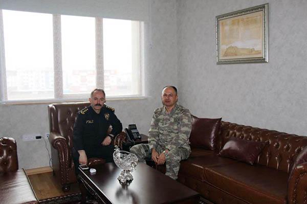 Tuğgeneral Nuhut, Emniyet Müdürü Bitirik'i ziyaret etti