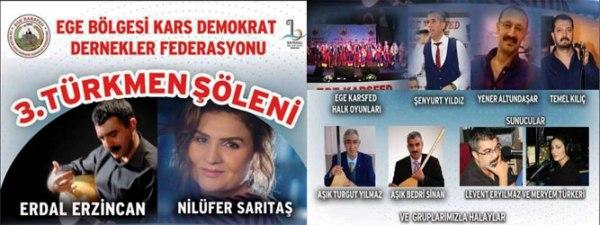 Kars, Ardahan ve Iğdırlılar 3. Türkmen Şöleninde buluşacak