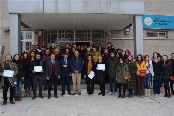 TÜBİTAK Projelerine katılanlara sertifikaları verildi
