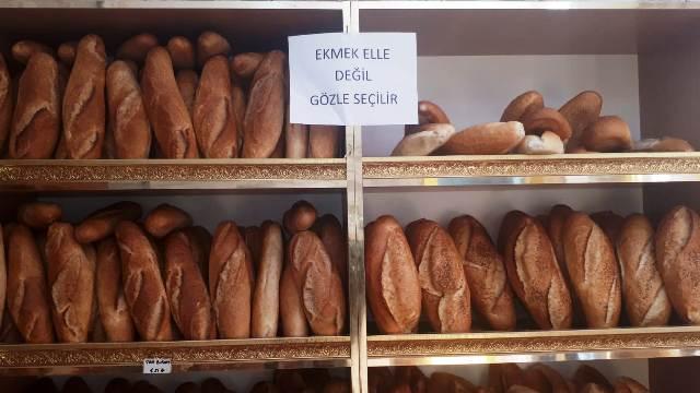 Ekmek elle değil gözle seçilir