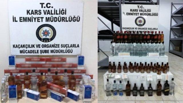 Kars Polisi, yılbaşı haftasında sahte ve kaçak içkiye geçit vermedi