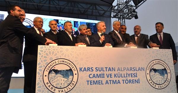 Bakan Arslan, Sultan Alparslan Cami ve Külliyesinin temelini attı