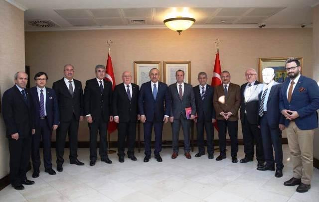 TGK Yönetimi, Dışişleri BakanıÇavuşoğlu'nu ziyaret etti