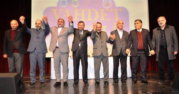 """Kars belediye başkan adayları 'Vahdet"""" fotoğrafı çektirdi"""