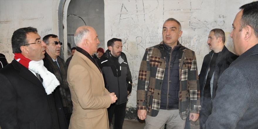 Kültür ve Turizm Bakanı Ersoy, Katerina Köşkü'nü gezdi
