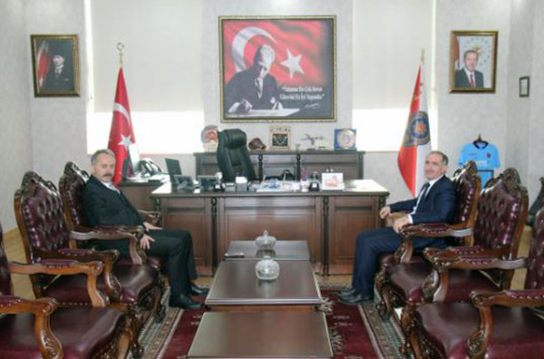 KAÜ Rektörü Kapu'dan Emniyet Müdürü Bitirik'e ziyaret
