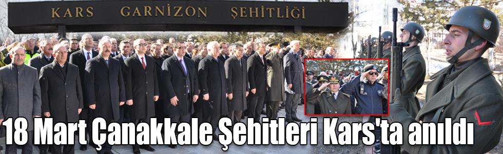 Çanakkale Zaferi'nin 104. yıldönümü dolayısıyla tüm yurtta olduğu gibi Kars'ta da tören düzenlendi.