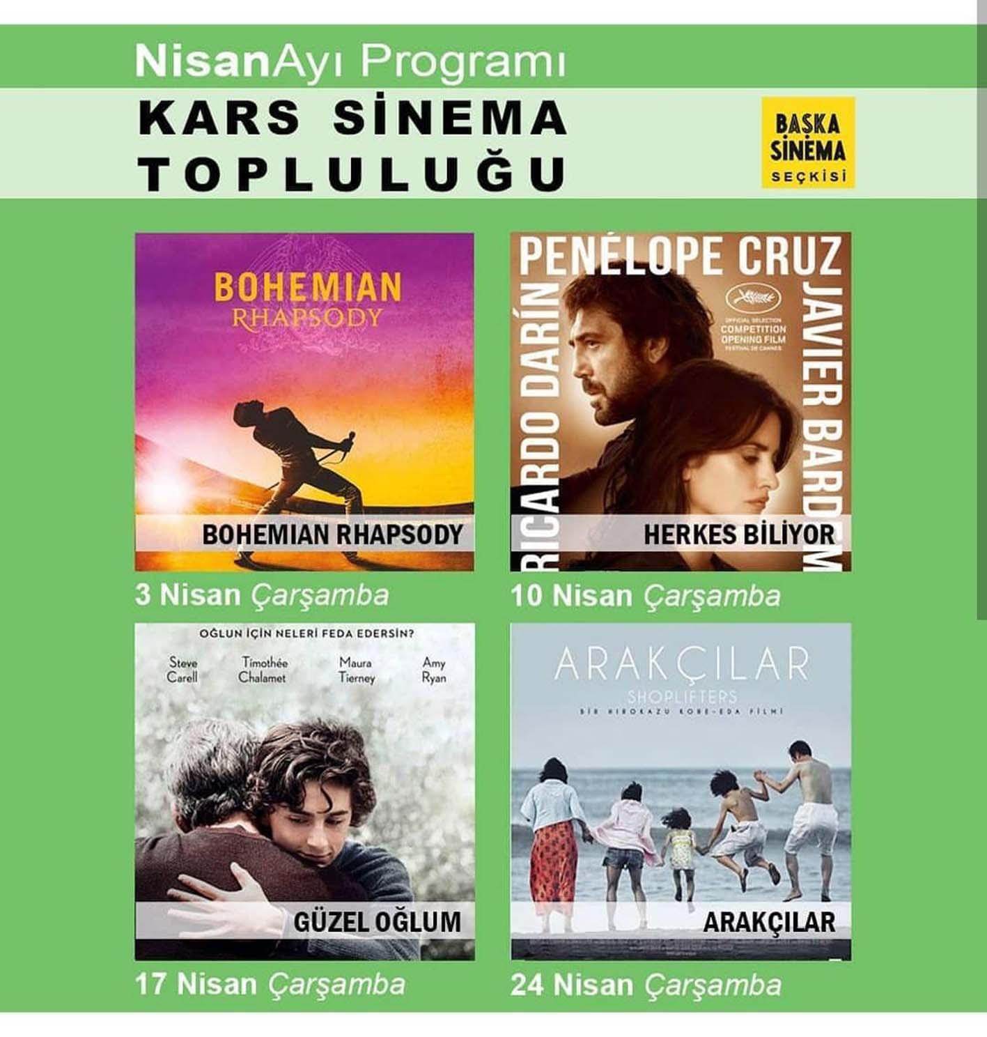 Kars Sinema Topluluğu Nisan ayı programını açıkladı