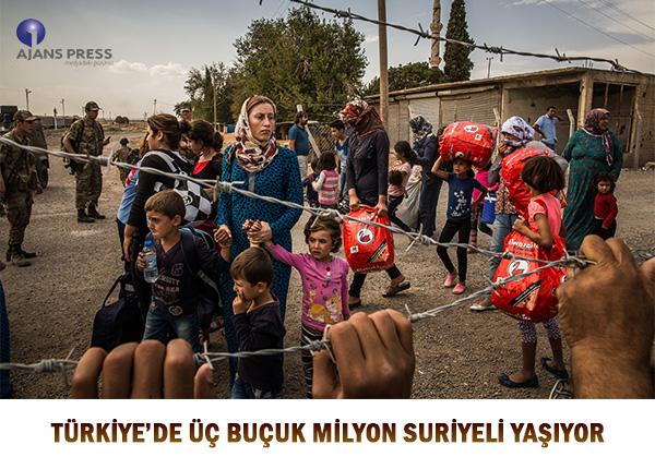 TÜRKİYE'DE ÜÇ BUÇUK MİLYON SURİYELİ YAŞIYOR