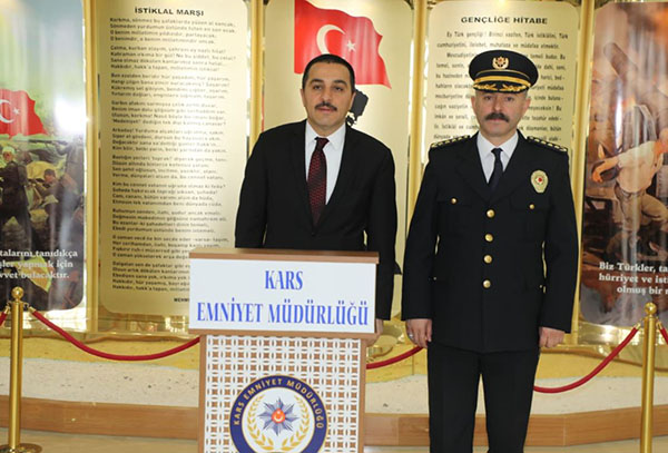 Vali Öksüz, Emniyet Müdürlüğünü ziyaret etti