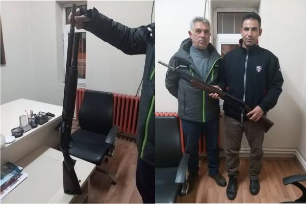 Sarıkamış'ta kaçak avcının tüfeğine el konuldu, para cezası uygulandı