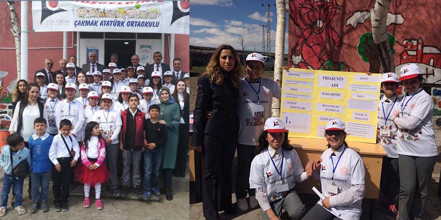 Çakmak Köyündeöğrenciler projelerini sergiledi