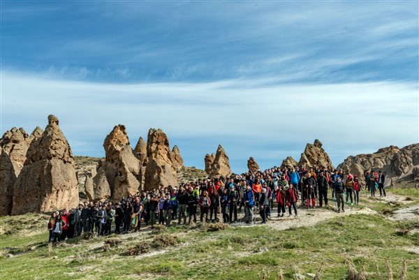 Kars'ta tarihi İpek Yolunda gençlik yürüyüşü