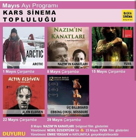 Kars Sinema Topluluğu Mayıs ayı programını açıkladı
