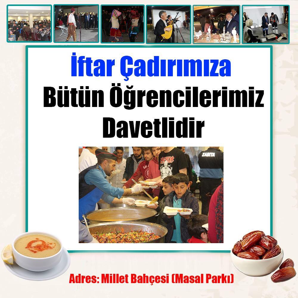 Kars Belediyesinden öğrencilere iftar daveti