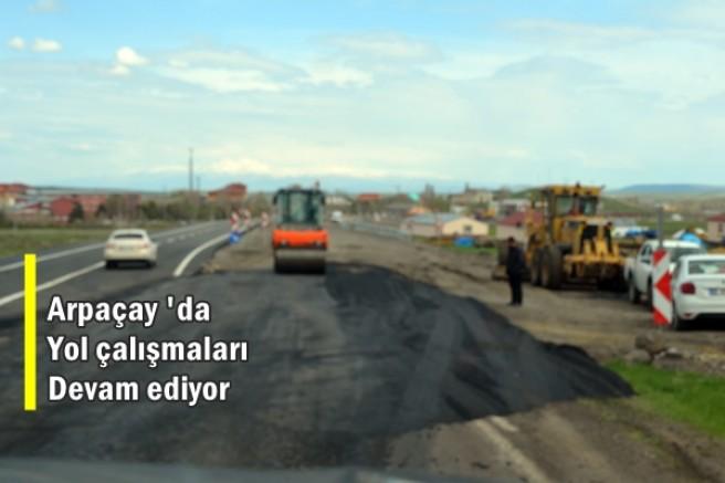Arpaçay'da çevre yolu çalışmalarında sona gelindi