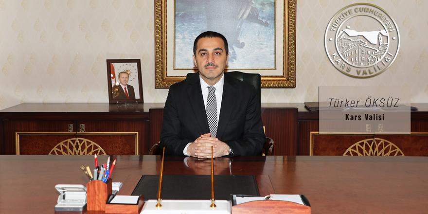 Kars Valisi Türker Öksüz'ün 19 Mayıs mesajı