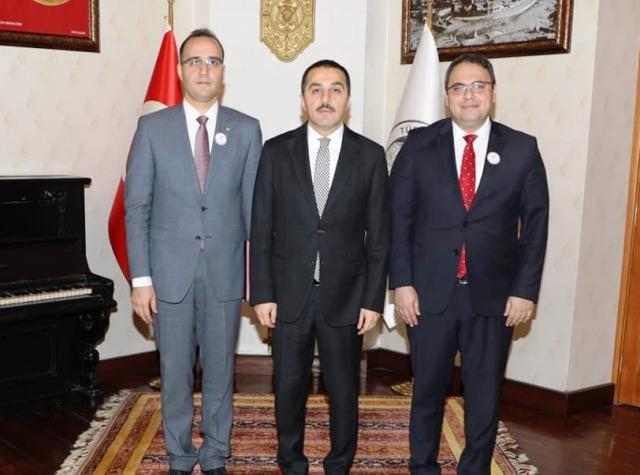 Vali Türker Öksüz'e Tapu Kadastro Teşkilatının 172. yıldönümü ziyareti