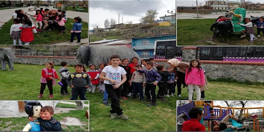Köylerdeki çocuklar Kaymakamlık desteğiyle eğleniyor