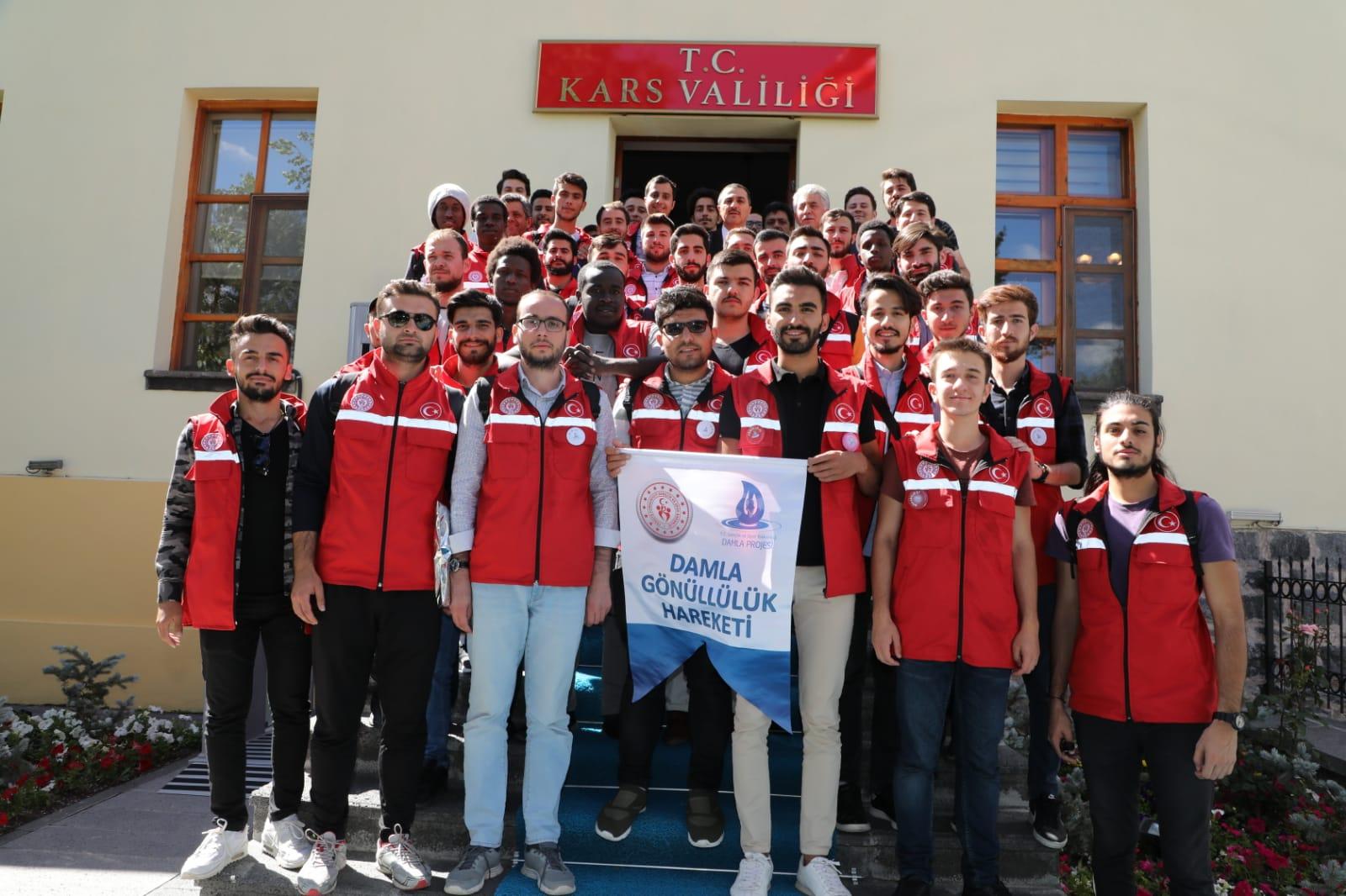 """40 öğrenci """"Damla Projesi"""" kapsamında Kars'ta"""