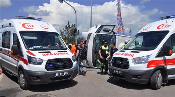 Kars'ta 2017 yılında 511 adet trafik kazası meydana geldi