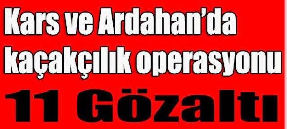 Kars ve Ardahan'da Kaçakçılık operasyonuna 11 gözaltı