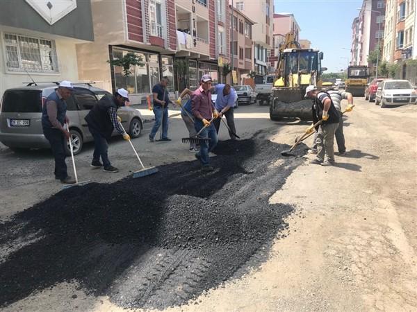 Kars Belediyesi Cadde ve sokaklarda yama çalışması başlattı
