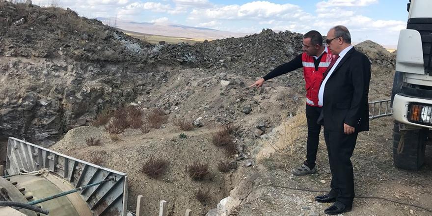 Kars Barajı Sulaması İsale Hattı İnşaatında inceleme