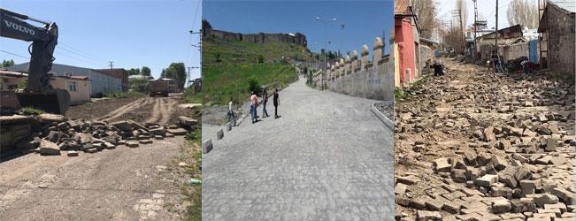 Kars Belediyesi yol ve kaldırım çalışmalarına start verdi