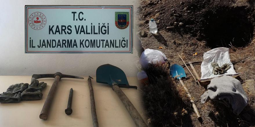 Kars'ta kaçak kazı yapanlar suçüstü yakalandı