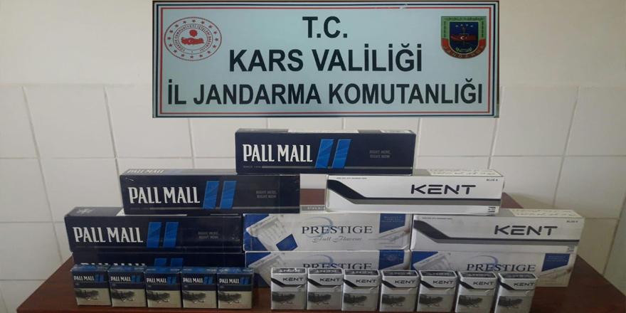 Kars'ta Jandarmadan kaçak sigara uygulaması